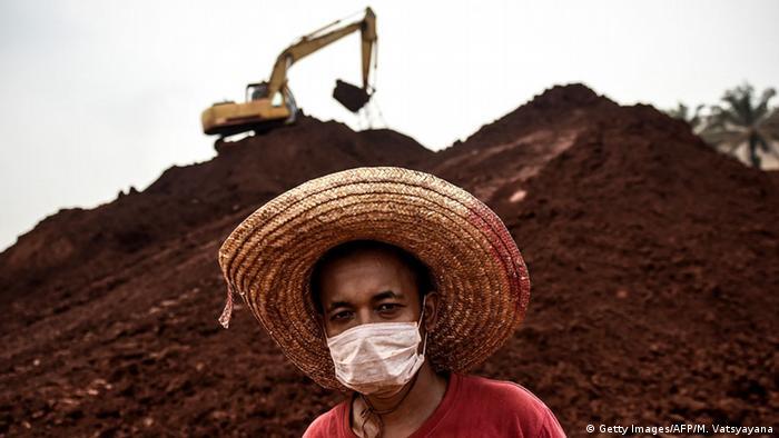 Malaysia Bauxit Abbau Mine Tagebau