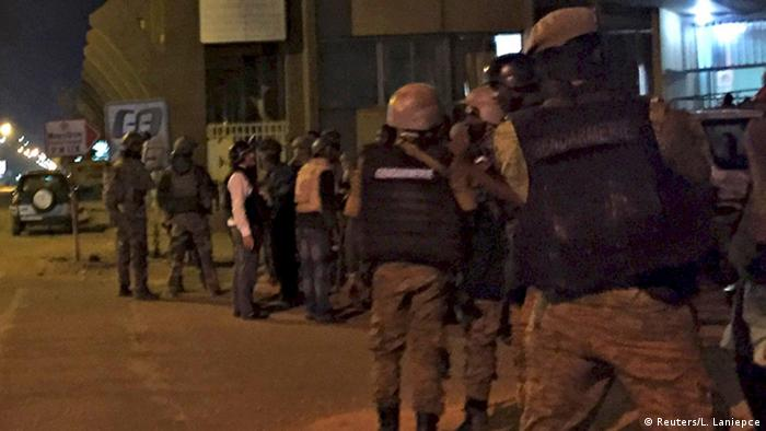 Burkina Faso security forces at Splendid Hotel in Ouagadougou