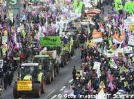 Акция протеста в Берлине против аграрной политики