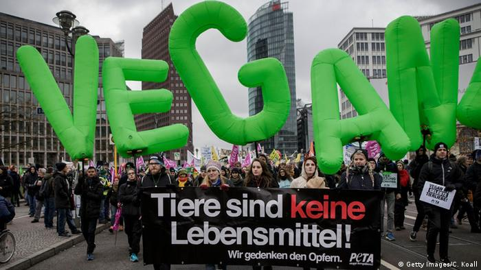 Farmers protesting against corporate agriculture in Berlin (c) Getty Images/C. Koall