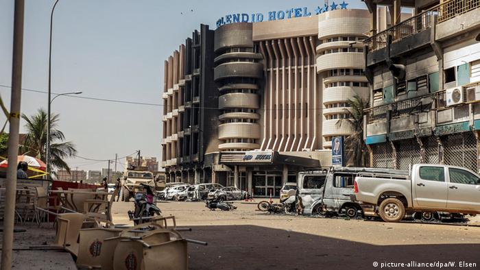 Site of Burkina Faso hotel attack