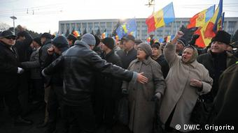 Proteste in der Republik Moldau (Foto: Constantin Grigorita/DW)