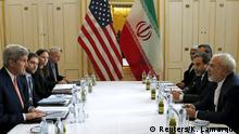 U.S. Secretary of State John Kerry (L) meets with Iranian Foreign Minister Mohammad Javad Zarif on what is expected to be implementation day, the day the International Atomic Energy Agency (IAEA) verifies that Iran has met all conditions under the nuclear deal, in Vienna January 16, 2016. REUTERS/Kevin Lamarque TPX IMAGES OF THE DAY Reuters/K. Lamarque