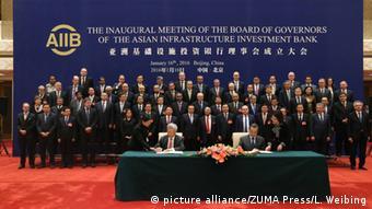 China AIIB Entwicklungsbank Eröffnungszeremonie