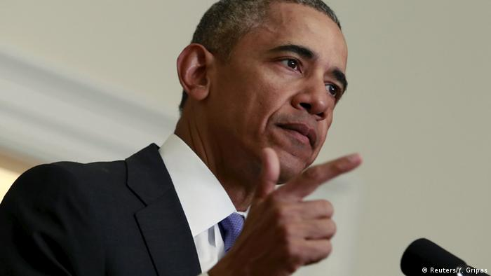 U.S. President Barack Obama delivers a statement