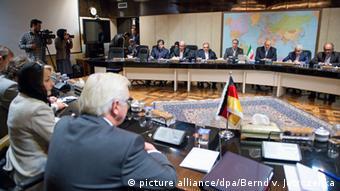 فرانک اشتاین-مایر، وزیر خارجه آلمان در ایران. با گشایش در پرونده هستهای ایران سفر مقامهای آلمانی به ایران در ماههای اخیر افزایش یافته است