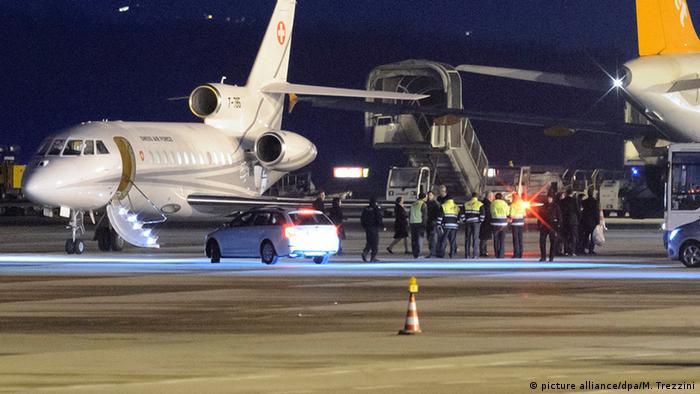 Die freigelassenen US-Bürger landen in Genf (Foto: dpa)