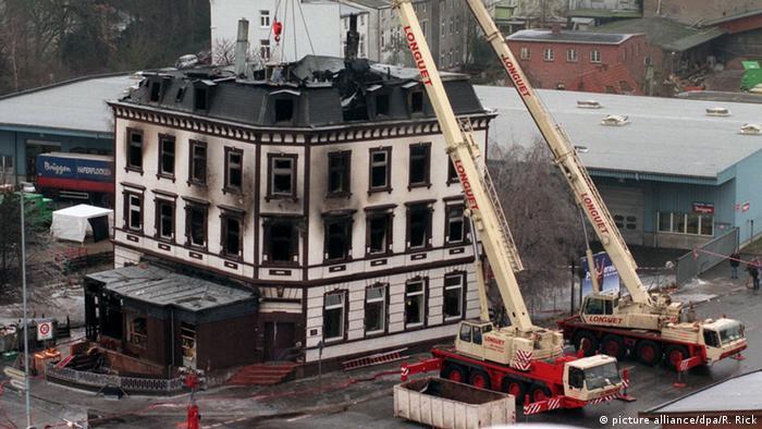 Deutschland Brand Flüchtlingsunterkunft Hafenstraße in Lübeck