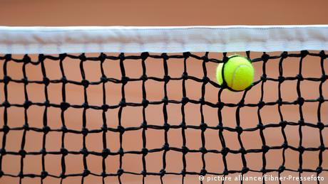 Tennis Netz mit Ball