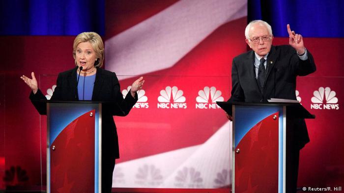 USA Wahlkampf Demokraten Präsidentschaftskandidaten TV-Debatte