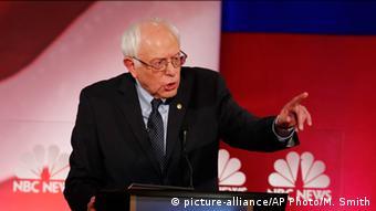 USA Wahlkampf Demokraten Präsidentschaftskandidaten TV-Debatte Bernie Sanders
