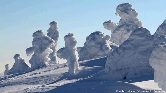 Schneeskulpturen auf dem Brocken