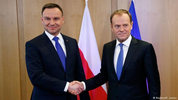 EU Polen Duda bei Tusk