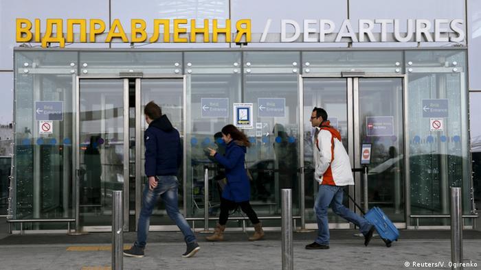 Ukraine Cyber-Angriff auf die Infrastruktur Flughafen in Kiew