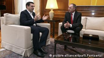 Από τη συνάντηση του κ. Μπόργιανς με τον έλληνα πρωθυπουργό τον Ιανουάριο του 2016