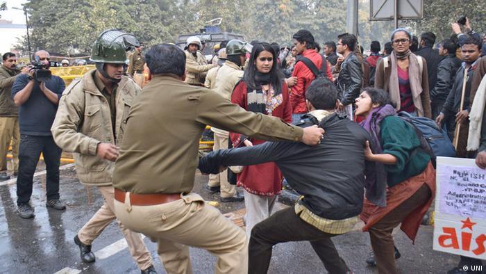 Indien, Studentenproteste in Neu Delhi