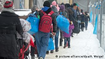 Deutschland Flüchtlinge in Passau