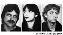 Deutschland RAF-Mitglieder Ernst-Volker Wilhelm Staub, Daniela Klette und Burkhard Garweg