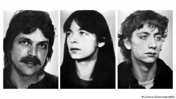 Ernst-Volker Wilhelm Staub, Daniela Klette and Burkhard Garweg (picture-alliance/dpa/BKA)