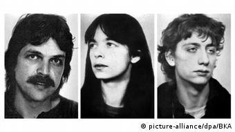 Οι καταζητούμενοι Ερνστ-Φόλκερ Βίλχελμ Στάουμπ, Ντανιέλα Κλέτε και Μπούρκχαρντ Γκάρβεγκ, σε παλιά φωτογραφία