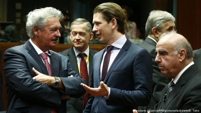 Sebastian Kurz (Bildmitte) in Brüssel (Foto. picture alliance/APA)