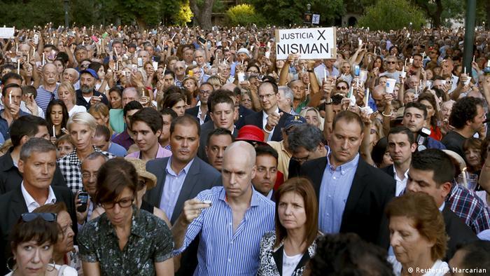 Argentinien Demonstrationen zum Todestag von Alberto Nisman in Buenos Aires
