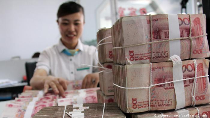 China Banknoten in Linyi (picture-alliance/dpa/Zhang Chunlei)