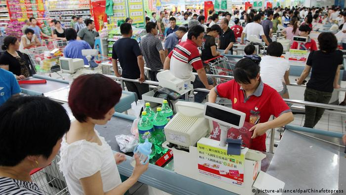 China Blick in einen Supermarkt in Zhuji (picture-alliance/dpa/Chinafotopress)