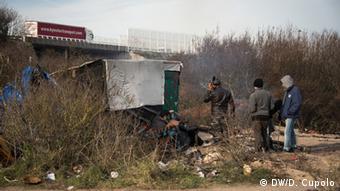 Frankreich Polizei räumt das illegale Flüchtlingslager Jungle bei Calais