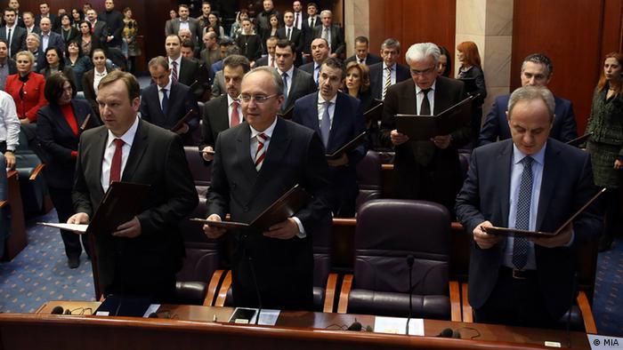 Mazedonien die neue mazedonische Übergangsregierung (MIA)