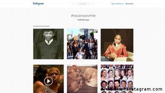 Публікації в Instagram з хештегом #OscarsSoWhite
