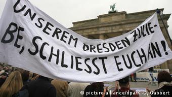 Демонстрация в защиту объекта Всемирного наследия - Дрезденской долины Эльбы