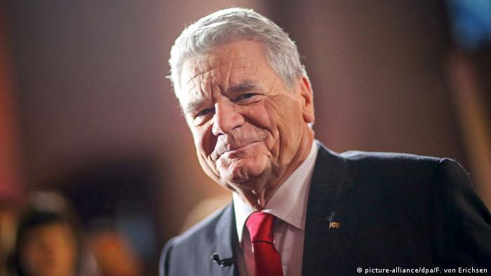 Deutschland Bundespräsident Joachim Gauck