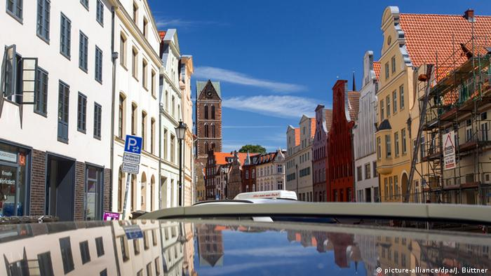 Renovations of historic houses in Wismar, Germany