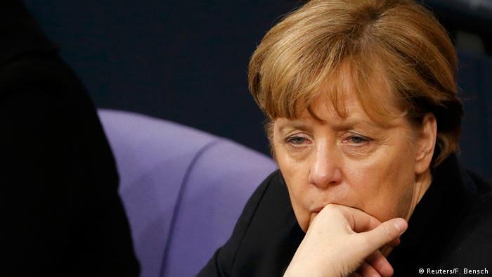 Ангела Меркель в бундестаге, 13 января