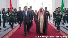 China Xi Jinping in Saudi-Arabien
