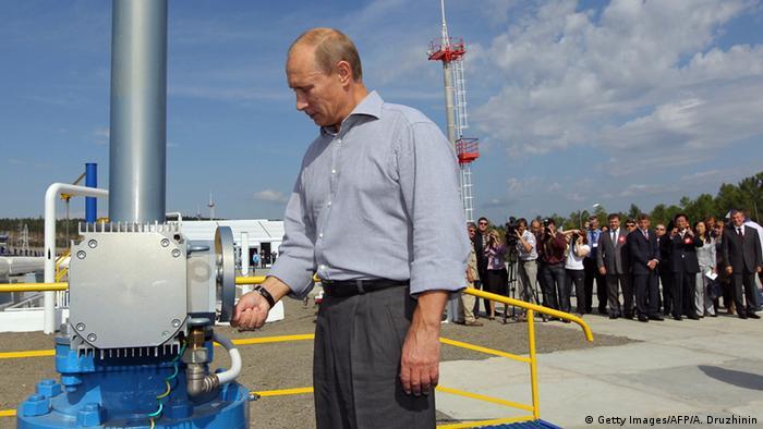 Putin bei der Eröffnung der Öl-Pipeline zwischen Russland und China