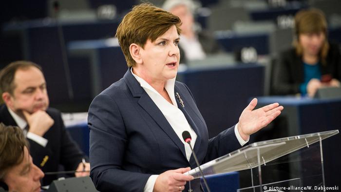 Beata Szydlo (picture-alliance/W. Dabkowski)