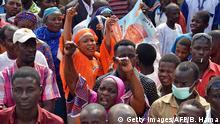 Niger Wahlkampf - Anhänger der Opposition