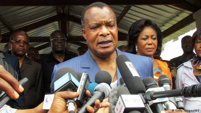 Kongo Verfassungsreferendum - Präsident Denis Sassou Nguessou