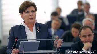 Europaparlament Polen Premierministerin Beata Szydlo (Foto: Reuters/V. Kessler)