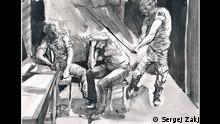 Skizzen von Sergej Zakjharov: wie es war