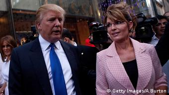 Donald Trump und Sarah Palin (Foto: Getty Images/A.Burton)