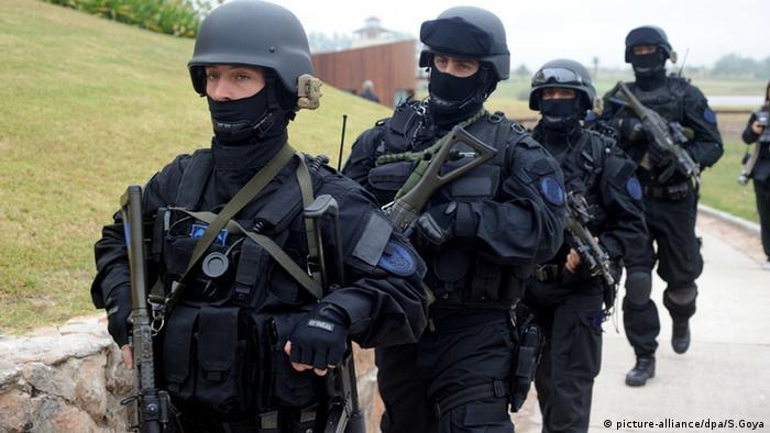 Una unidad especial de elite de la Policía argentina.