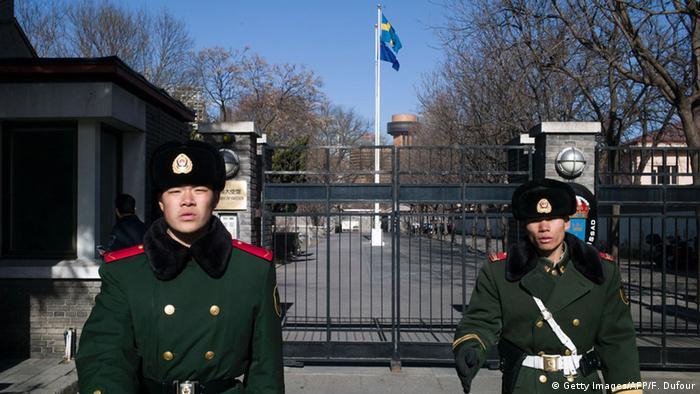 China nimmt schwedischen Menschenrechtsaktivisten fest - Botschaft von Schweden in Peking