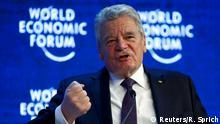 Schweiz Davos Weltwirtschaftsforum 2016 Joachim Gauck