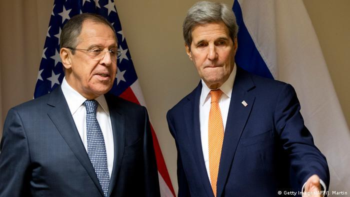 USA Russland John Kerry mit Sergej Lawrow Syrien Gespräche in Zürich