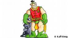 Superqueeros Batman und Robin, Copyright: Ralf König***ACHTUNG: Pressebild nur für die aktuelle, themengebundene Berichterstattung
