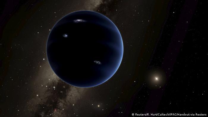 Imagem de como poderia ser o Planeta Nove, que não foi observado pelos cientistas