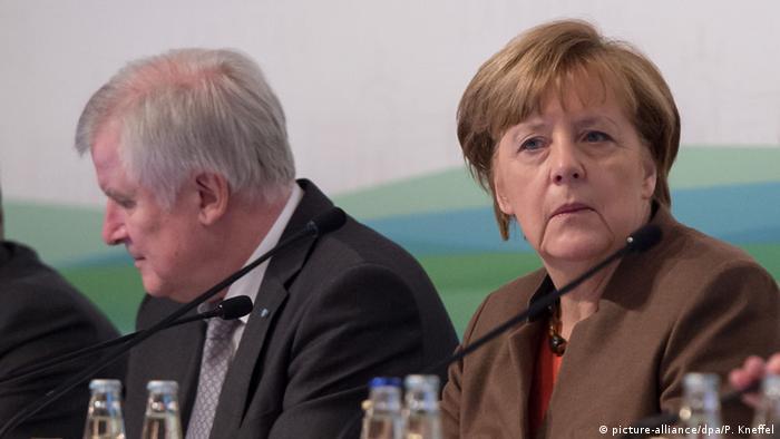 Winterklausur der CSU-Landtagsfraktion Horst Seehofer und Angela Merkel